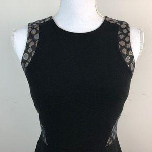 Ann Taylor Dresses - Ann Taylor Leopard Print Little Black Dress